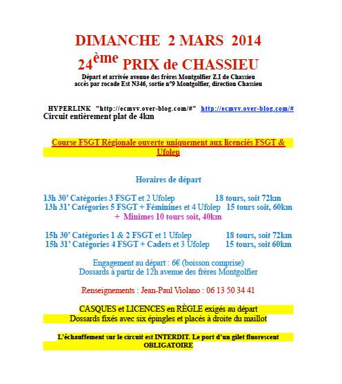 Prix de Chassieu 2014