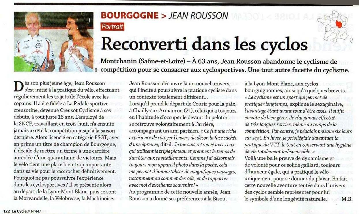 Jean Rousson sur Le Cycle