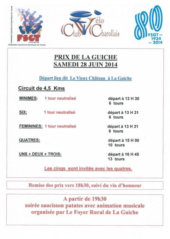 Prix de la Guiche 2014
