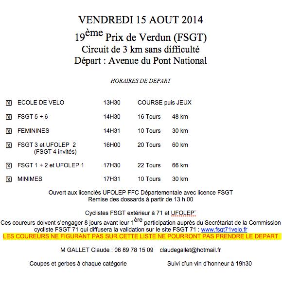 Prix de Verdun 2014