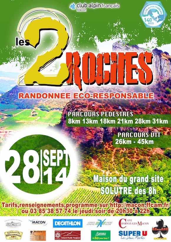 AFFICHE 2 ROCHES 2014