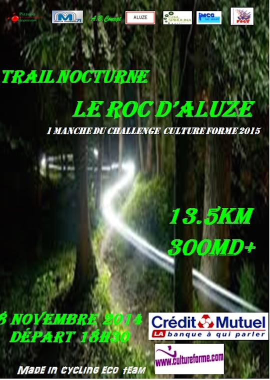 affiche  officielle roc d'aluze