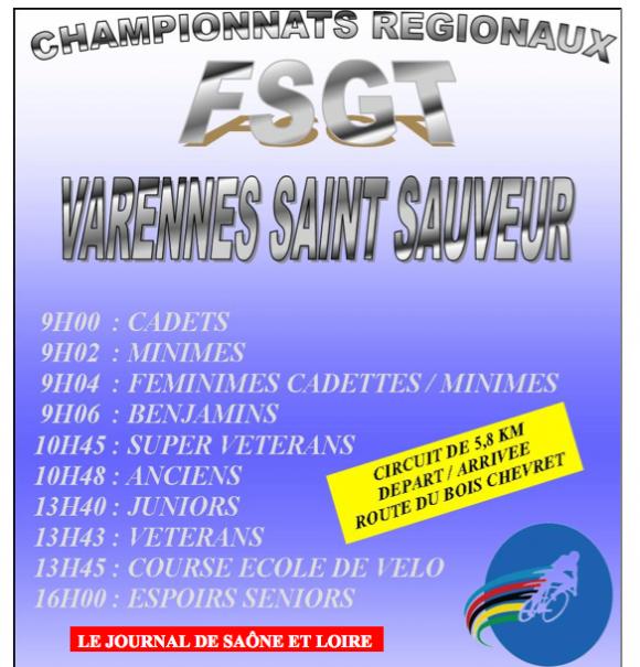 Championnat Varennes St Sauveur 2015