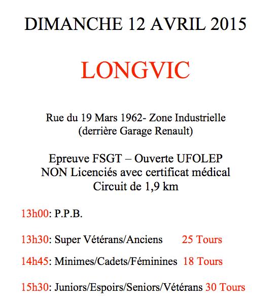 Prix de Longvic FSGT 21 2015