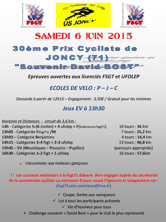 Prix de Joncy FSGT 2015