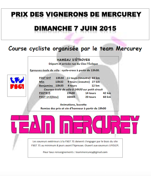 Prix de Mercurey 2015