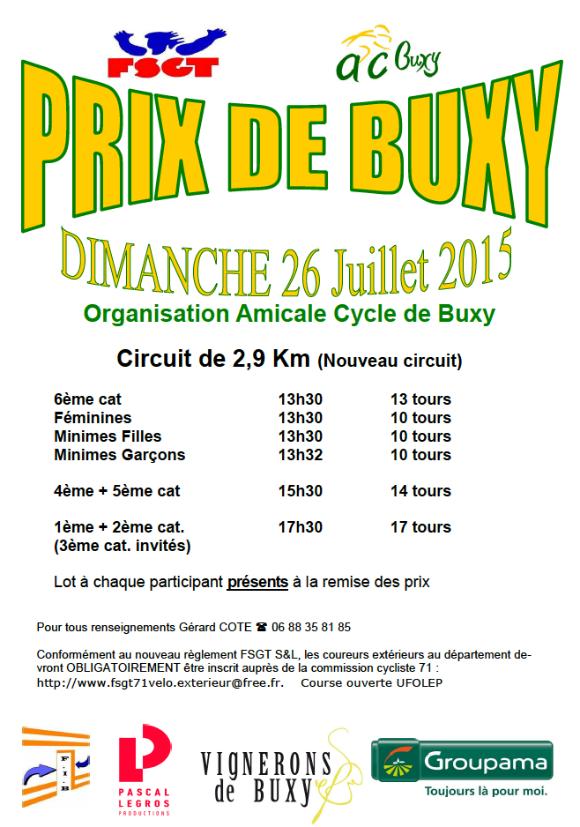 Prix de Buxy 2015