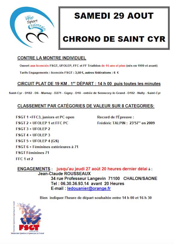 Chrono St Cyr 2015