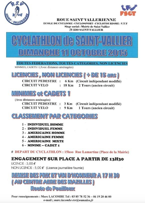 Cyclathlon de Saint Vallier 2015