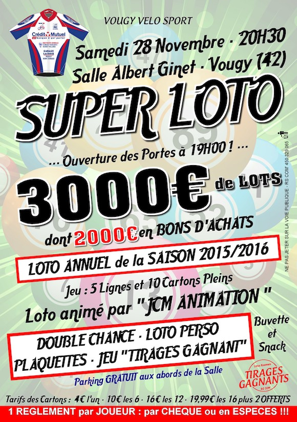 Super Loto Vougy 2015
